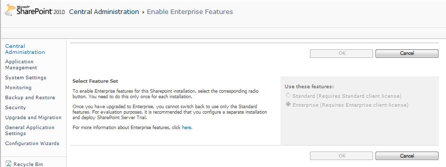 Enable Enterprise Feature